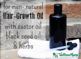 Natural Hair Growth Oil for Men with Castor Oil -black seed oil-herbs